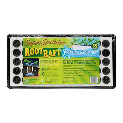 Super Sprouter 55-Site Floating Plug Tray - Root Raft