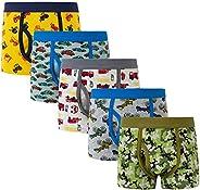 Cczmfeas Boy's Boxer Briefs Comfortable Cotton Short Toddler Underwear