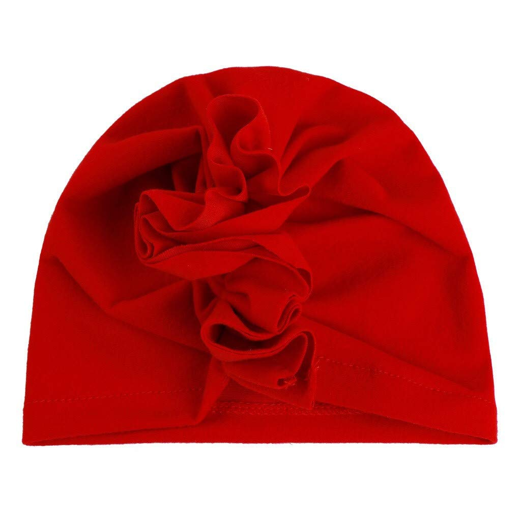 Unisex Baby Kids Turban Hat Muslim Bowknot Elastic Headband Hijab Cap Headgear