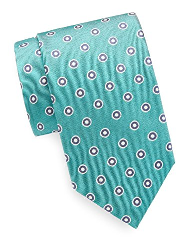canali-mens-double-circle-print-italian-silk-tie-os-green