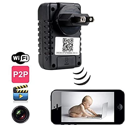 DareTang P2p Wifi Spy Camera Adapter H.264 Format Hd 720p Ip Network DVR Hidden Adapter Camera 90 Degree View Angle Mini Camcorder Video Recorder Cam Security & Surveillance Cameras Wireless P2p Remote Control Wi-fi Live View,monitor Your Home Anytime Any