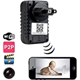 DareTang P2p Wifi Spy Camera Adapter H.264 Format Hd 720p Ip Network DVR Hidden Adapter Camera 90 Degree View Angle Mini Camcorder Video Recorder Cam Security & Surveillance Cameras Wireless P2p Remote Control Wi-fi Live View,monitor Your Home Anytime Anywhere Via Mobile App