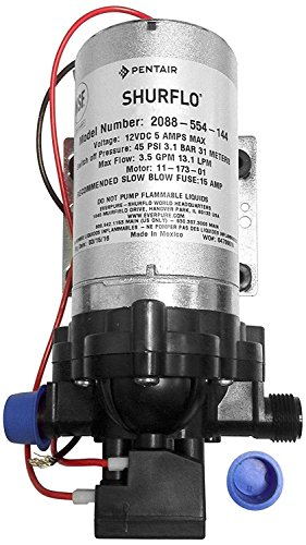 (Shurflo 2088-554-144 Fresh Water Pump, 12 Volts, 3.5 Gallons Per Minute, 45 Psi)
