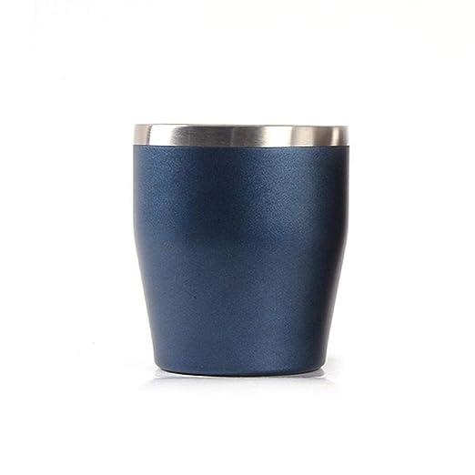 KOBWA - Vaso de Acero Inoxidable sin Taladro, 300 ML, Taza ...