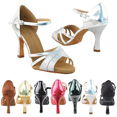 Zapatos De La Paloma De Oro Zapatos De La Boda De La Fiesta Del Partido, Zapatos De Noche De La Comodidad De La Comodidad Bombas: Zapato De Baile De Salón Del Talón De Las Mujeres Zapatos 6030 - Stardust De Plata