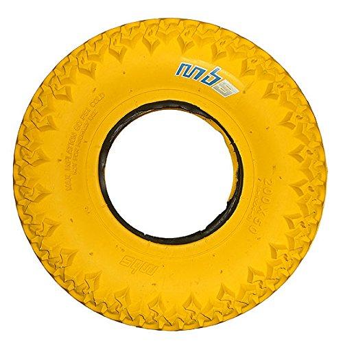 Reifen für Mountain - Kite - Boards oder Dirtscooter. 200 x 50 mm (Gelb)