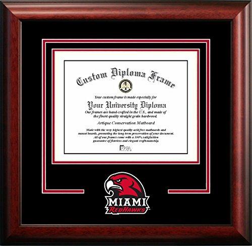 - Campus Images NCAA Miami (Ohio) Redhawks Spirit Diploma Frame, 8.5 x 11, Mahogany