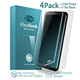 Klearlook 3-Clear Screen Film for Galaxy S8 Plus, 3-Case-Friendly Full Transparent High Touch Sensitivity TPU Screen Protector for Front + 1-Carbon Fibre Stickerfor Back for 6.2' Galaxy S8 Plus/S8+