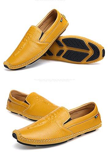 gialli Buty da Mocassini Uomo On uomo piatti guida Lumino Men casual Shoes estivi Brief da Mocassini qwFx6