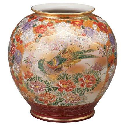 九谷焼 10号花瓶 花詰K5-1346[花生けフラワーベース] B074FF5K35