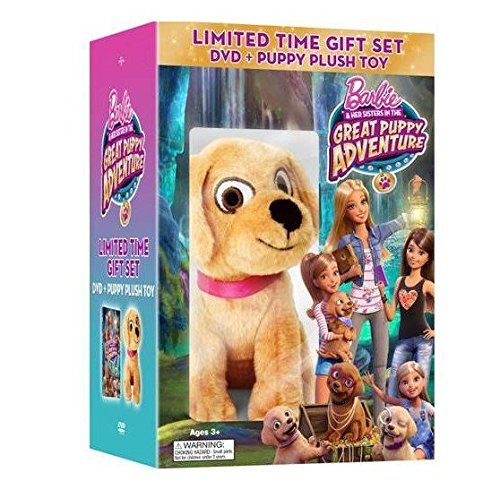 Barbie & Her Sisters in The Great Puppy Adventure: Limited Time Gift Set [DVD + Puppy Plush Toy] (Barbie And Sisters In The Great Puppy Adventure)