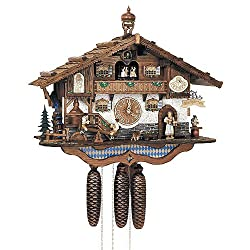 Schneider 17 Bavarian Chalet with Beer Drinkers, Dancing Couple and Water Wheel