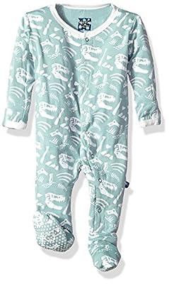 Kickee Pants Baby Boys' Essentials Print Footie by KicKee Pants Children's Apparel