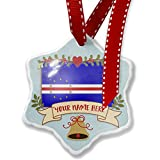 Add Your Own Custom Name, Cape Verde Flag Christmas Ornament NEONBLOND