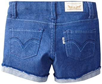 Levi's Little Girls' Felicity Shorty Short, Blue Butterfly, 4