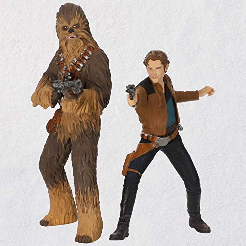 (Hallmark Keepsake Christmas Ornaments 2018 Year Dated, Star Wars Story Han Solo and Chewbacca, Set of 2)