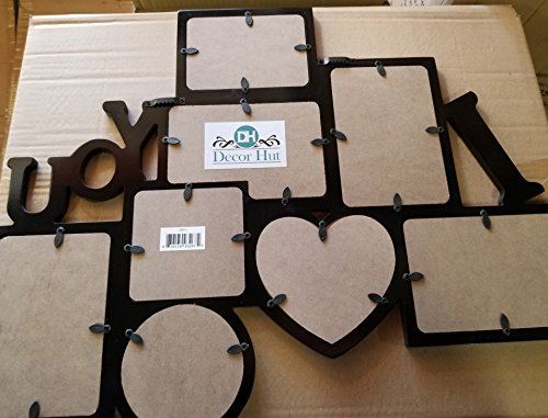Decor Hut I Love You Picture frame Puzzle Collage Frame, Holds 8 Photos, Easy to Hang, Black Nice Finish! Memory Keepsake! by Decor Hut (Image #2)