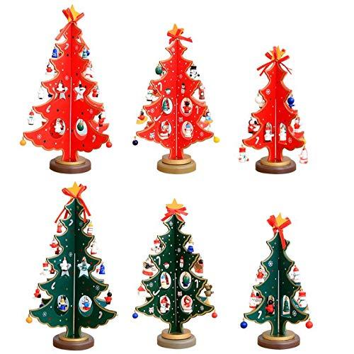trees 3d diy cartoon wooden christmas tree decoration xmas gift ornament table desk animal snowflakhome gibbons serre volume decal maple secret plants