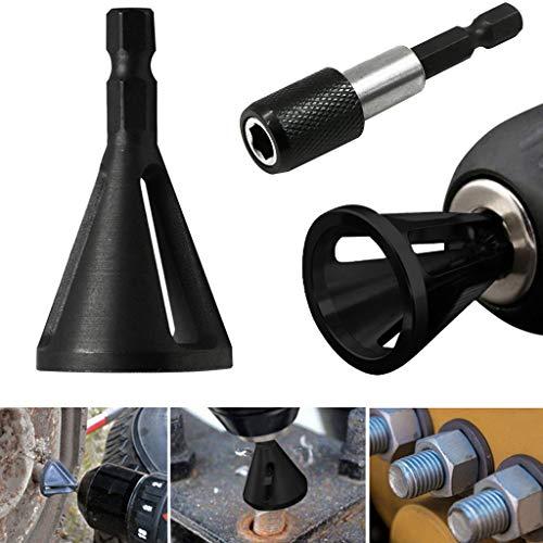 SANNYSIS Stainless Steel Deburring External Chamfer Tool Drill Bit Remove Burr Silver