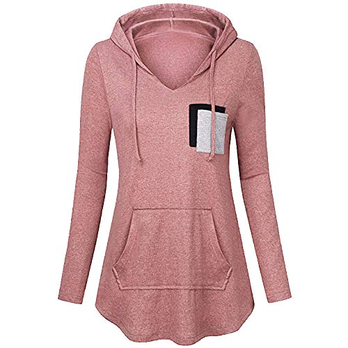 Lookatool LLC Women's Lightweight Pullover Hoodies Casual Long Sleeve Tunic Tops PK/L -