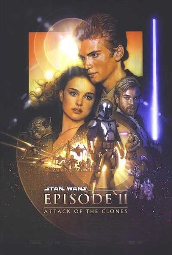 Star Wars: Episode Ii - Attack Of The Clones Movie 27x39 Poster Art Print (Pulp Fiction Star Wars Poster)