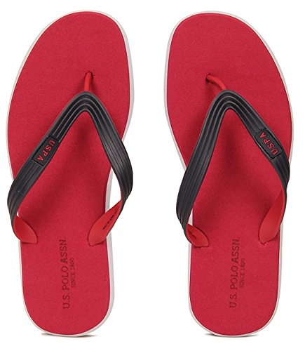 c51a446de59174 US Polo Association Men s Red Flip Flops Thong Sandals - 7 UK India (41  EU)  Buy Online at Low Prices in India - Amazon.in