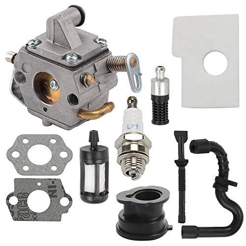 ATVATP MS170 Carburetor fit Stihl MS180 Carburetor 017 018 MS170C MS180C Chainsaw 1130 120 0603 & 1130 124 0800 Air Filter ()