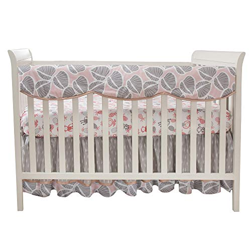 Lambs & Ivy Calypso Crib Rail Cover - Pink, Gray, Gold, White, Jungle, Outdoors, by Lambs & Ivy (Image #1)