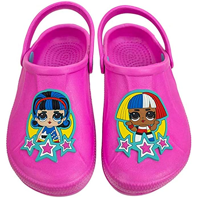 L.O.L. Surprise! Girls Molded Clog with Backstrap,Toddler Size 9 to Kids Size 1