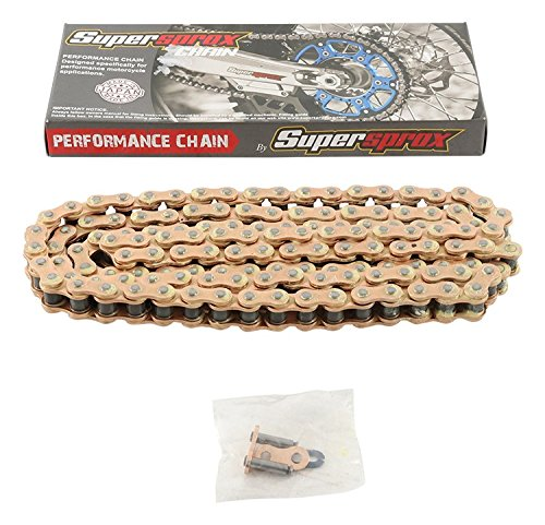 New Supersprox G428-MXT-134 428 Non O-Seal Chain 134 Link for Yamaha YZ 85 02-18, YZ 80 80-01, XT 350 85-00, XT 250 08-18, XT 225 92-07, TW 200 Trailway 87-18, TTR 225 99-04, TTR 125L Disc Brake 00-08