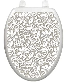 Toilet Tattoos TT-1200-O Block-Out Decorative Applique for Toilet Lid Elongated