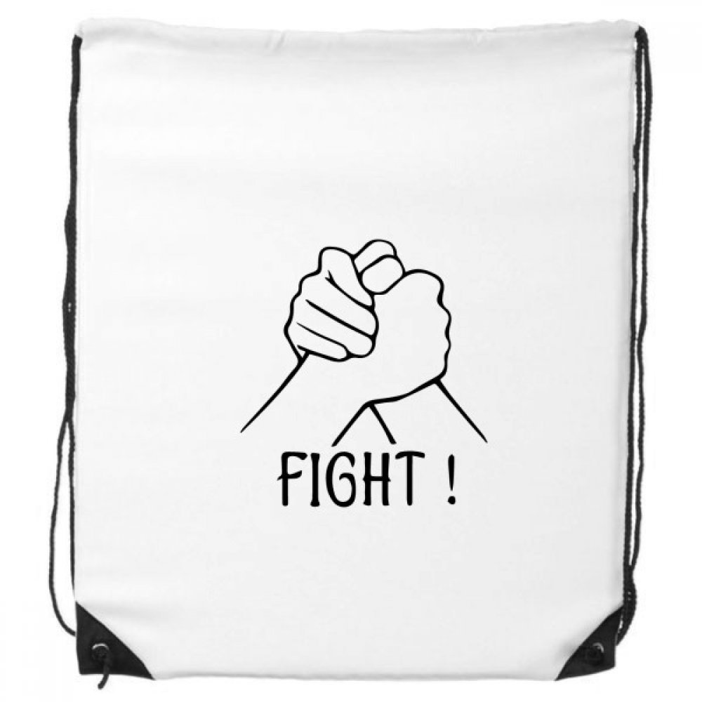 Wrist Wrestling Personalized Gesture Drawstring Backpack Shopping Sports Bags Gift