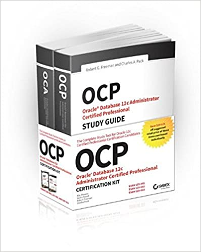 OCP Oracle Certified Professional on Oracle 12c Certification Kit 1st Edition