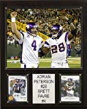 NFL Adrian Peterson-Brett Favre Minnesota Vikings Player Plaque
