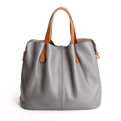 Teacher�� Gray Bag Detachable Large Capacity Bag Handbags Mother Leather 4WRqnFw