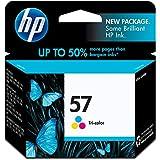 HP 57 Tri-Color Original Ink Cartridge For HP Deskjet 450, 5150, 5550, 5650, 5850, 9650, 9670, 9680, F4135, F4140, F4180, HP Digital Copier Printer 410, HP Officejet 4110, 4215, 5505, 5510, 6000, 6110, 6500, 7000, HP Photosmart 100, 130, 145, 230…