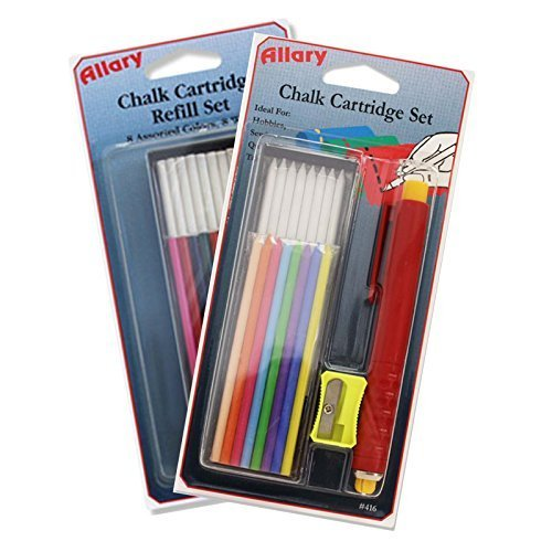 Allary Sewing Chalk Pen and Refill Bundle for Marking Fabric and Patterns