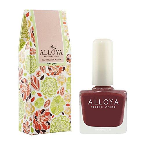 Alloya Natural Non Toxic Nail Polish, Water Based, 058 Thoro