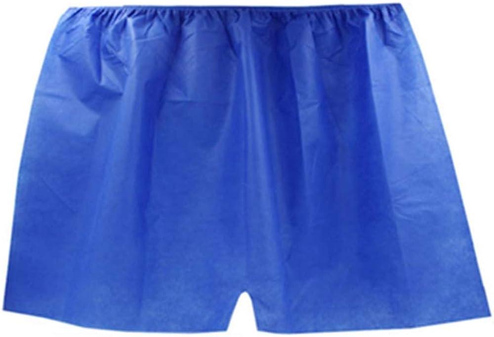 Etgu Mens Disposable Underwear Paper Underwear Pack of 20,Blue