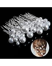 Taumie Haarspelden, 36 stuks, bruiloft, bruid, haarsieraad, parels, U-vormige haarspeld met strass, bruidskapsel voor bruidskapsel en bruidsmeisjeskapsel