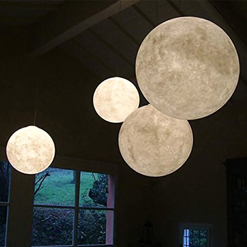 Moon Light Lamp, Luna Moon Lamp, Modern Home 3D Printing Lamp, Warm Yellow Night Light With Wooden Mount (Extra LargeSpecial Edition) by IDEAcone