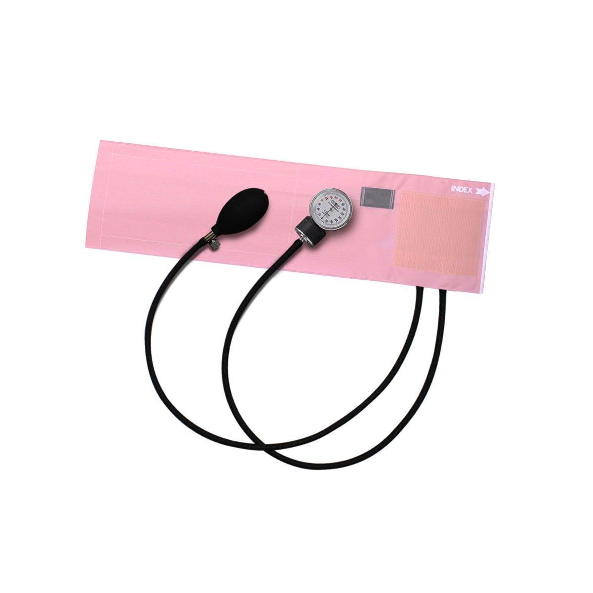 FOCAL アネロイド血圧計 FC-100V イージーリリースバルブ付 ナイロンカフ ピンク【4個セット】   B00FWNQXLK