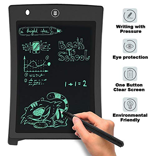 LCD Writing Pad,Electronic Writing & Drawing Board Doodle Board,Da by 8.5 inch Writing Tablet Drawing Tablet Gift for Kids,Elder Message Board,Family Memo and Office?Black?