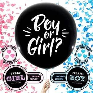 Big Reveal Co. Globo de revelación de género | Incluye: dos globos ...