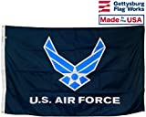 3x5' U.S. Air Force Wings All-Weather Nylon Outdoor Flag - Made in USA