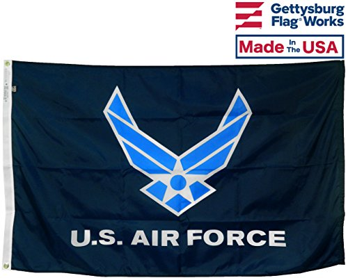 3x5' U.S. Air Force Wings All-Weather Nylon Outdoor Flag - Made in USA ()