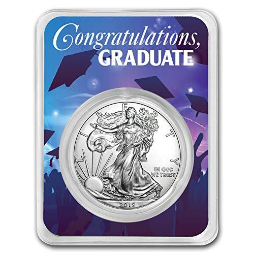 2019 1 oz Silver American Eagle - Graduation Party 1 OZ Brilliant - Card Silver Coin
