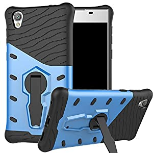 Sony Xperia L1 Case , BestAlice Hybrid Heavy Duty Protection Defender 360 Rotating Kickstand Armor Shockproof Case Cover Tempered Glass Screen Protector