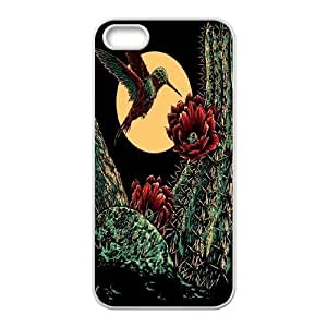 Wholesale Cheap Phone Case For Apple Iphone 5 5S Cases -Hummingbird Bird Art Pattern-LingYan Store Case 2