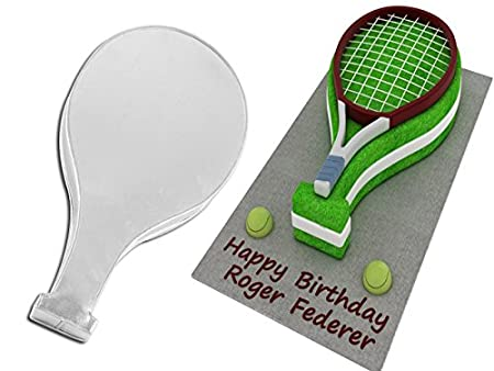 Tennis Racket Shaped Cake Pan Birthday Novelty Baking Themed Tin